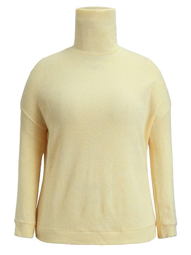 Beige Turtleneck Sweater