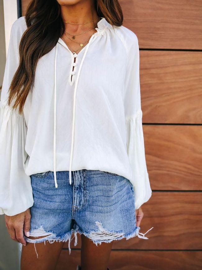Chiffon Shirt Tops