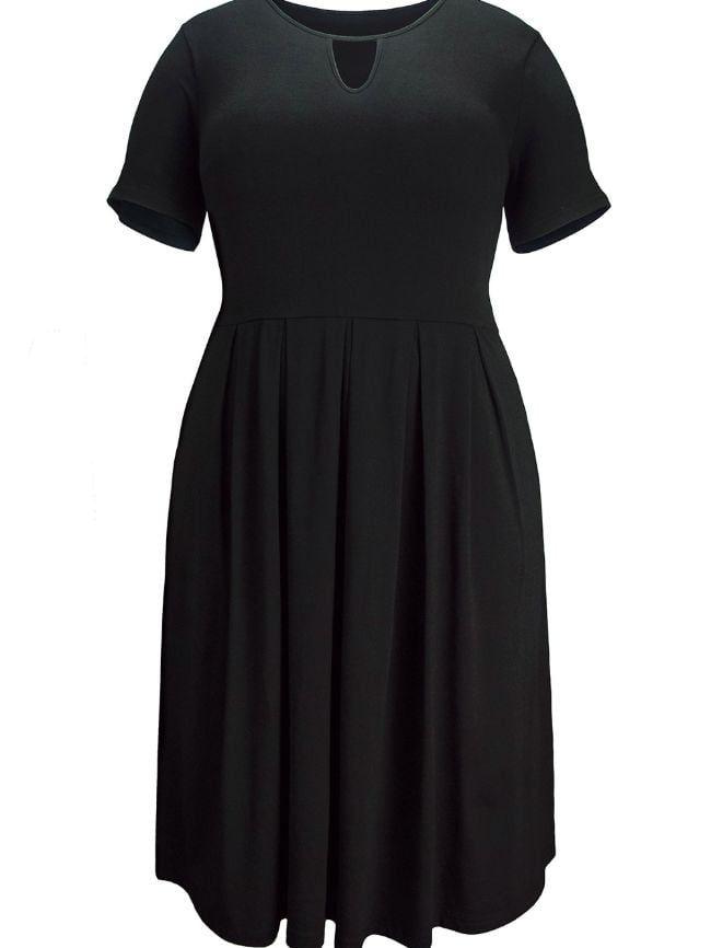 Knitted Stitching Dress