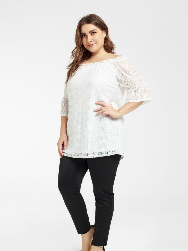 Lace One-Shoulder Top