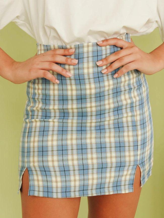 Slits High Waist Skirt