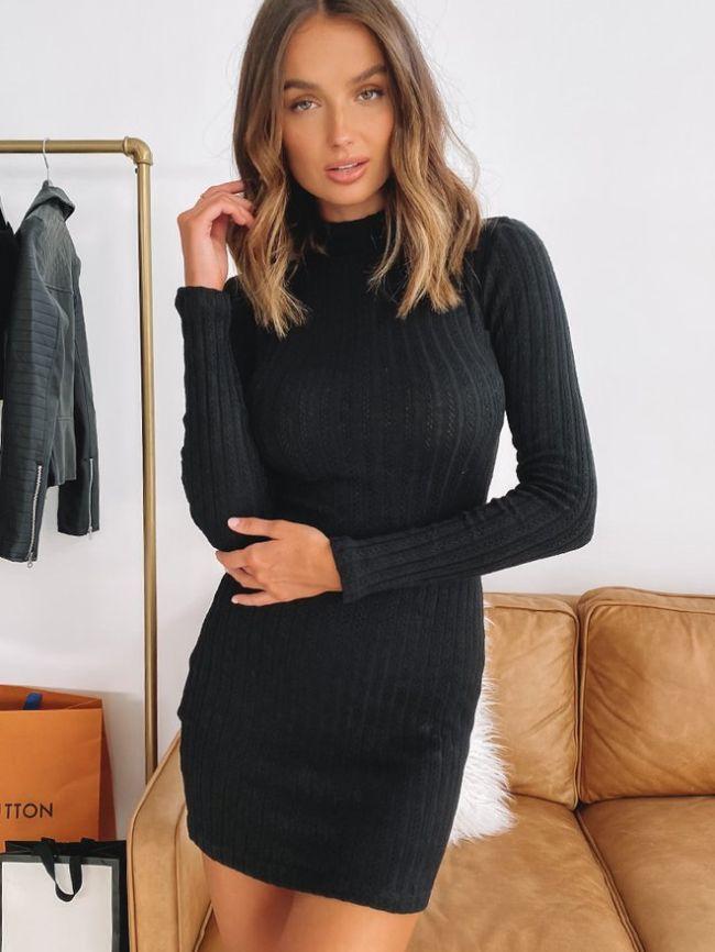 long wool dress