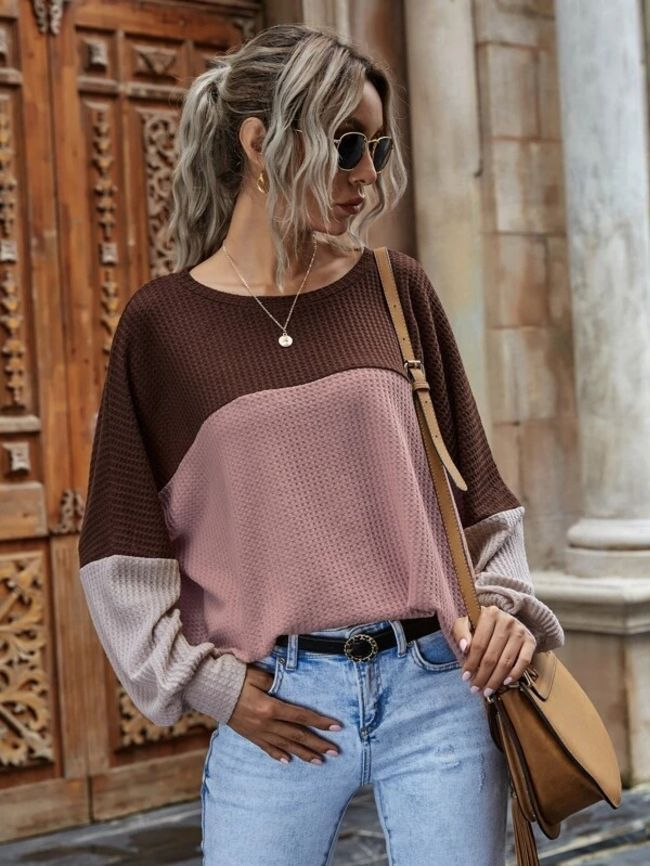 Waffle casual tops