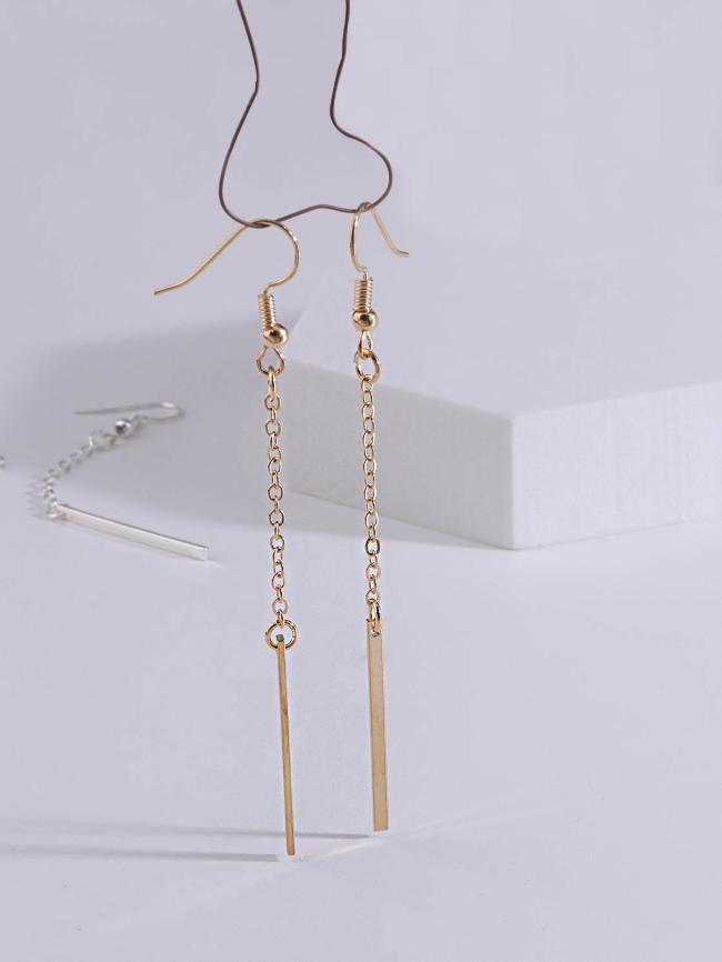 1-Shaped Pendant Earrings