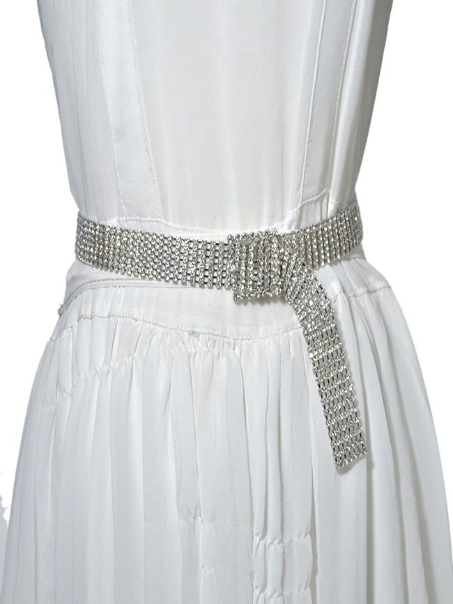 Metal waist chain sweet seven row full diamond inlaid thin waist chain