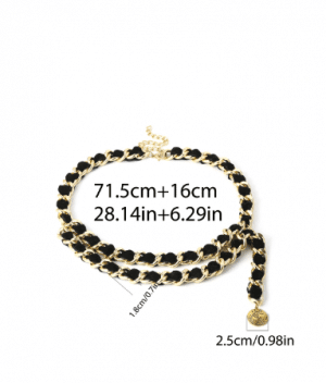 Retro multi-layer chain around a tassel waist chain woman