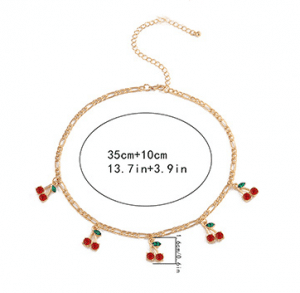 Design geometric single layer gold necklace