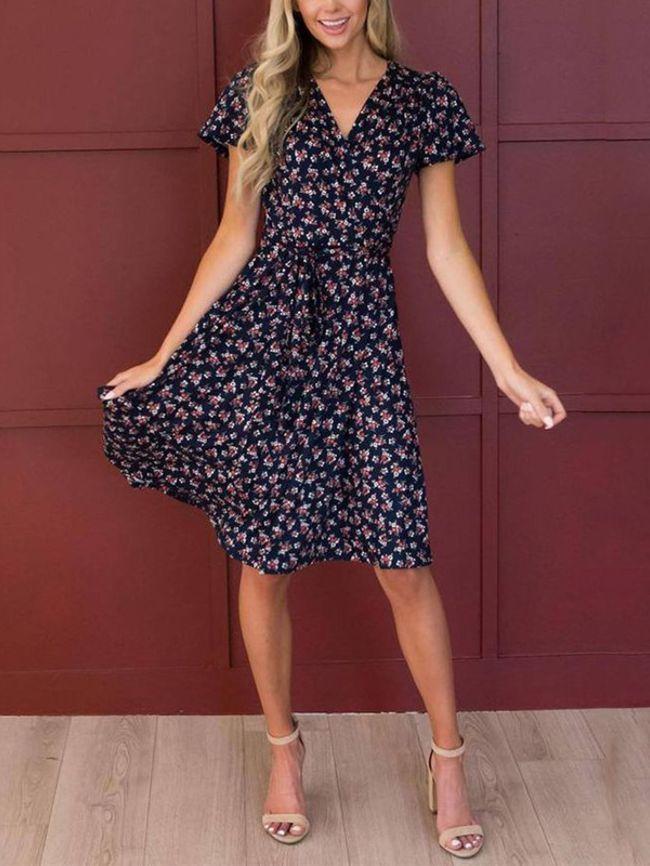 Casual high waist dress