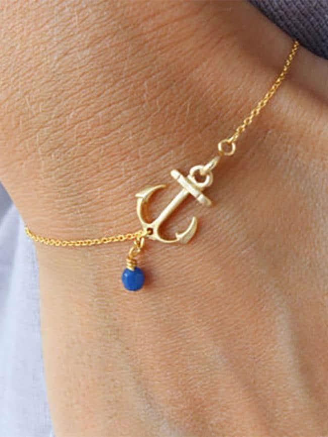 Crystal Anchor Bracelet