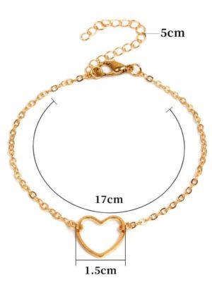 Peach Heart Bracelet