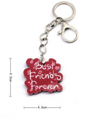 Personalized Retro Gift Letter Keychain
