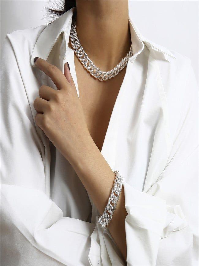 Personalized Simple Trend Necklace Bracelet Set