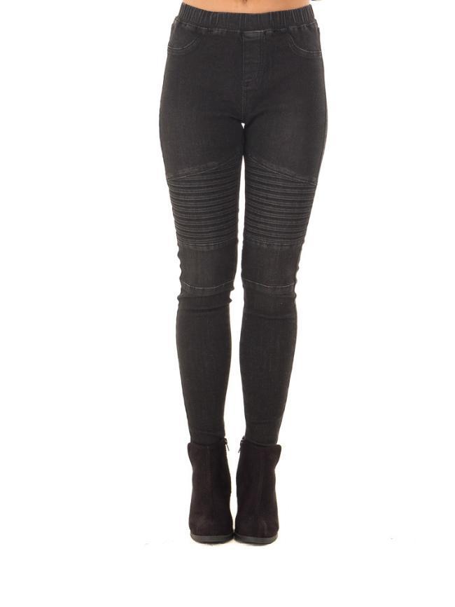 Punk Motorcycle Girl Skinny Jeans