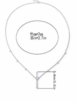 Rhinestone Tassel Chain Geometric Waist Chain Body Jewellery