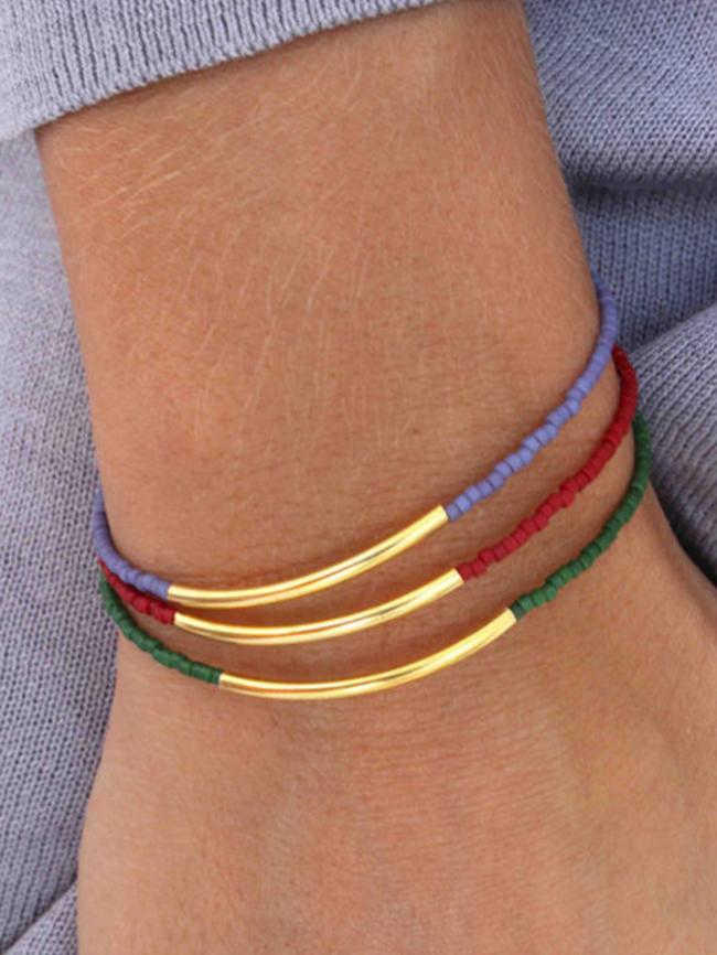 Rice Bead Simple Bracelet