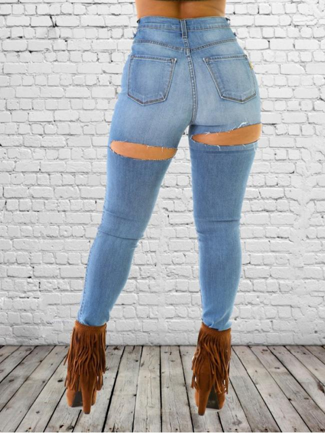 Washed Mid-Waist Skinny Jeans