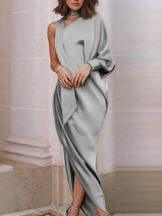 Banquet one-shoulder dress