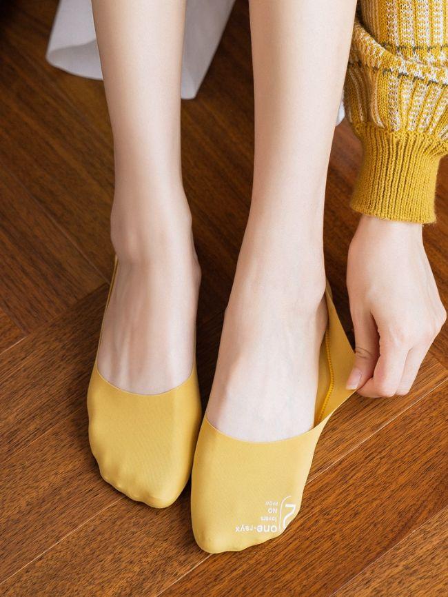 new ice silk non-slip invisible socks