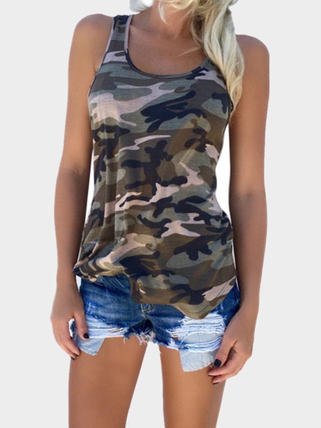 Camouflage sleeveless vest
