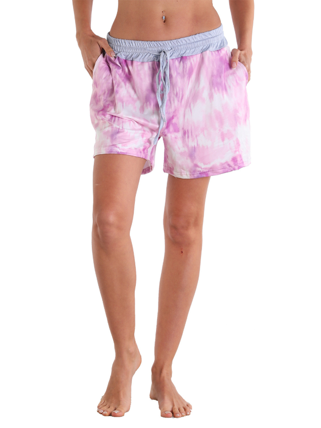 Tie-dye solid color beach surfing fitness outdoor sports shorts