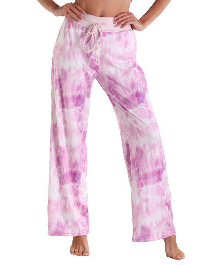 Tie-dye straps casual home pants