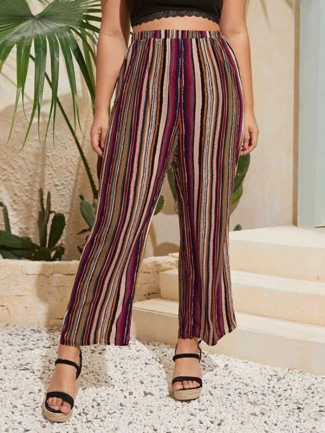 knitted wide-leg pants
