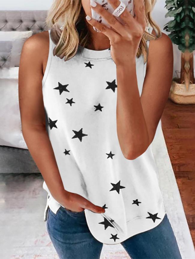 star print top