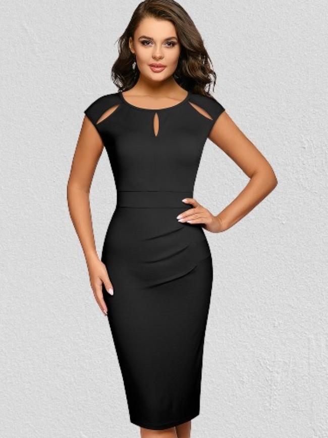 Hollow Stitching Bodycon Dress
