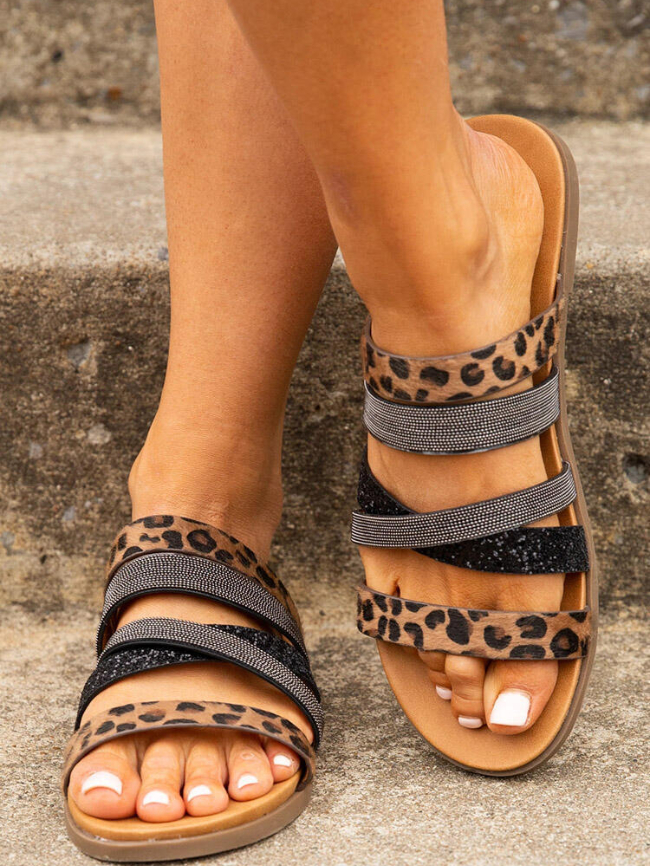 Leopard sandles