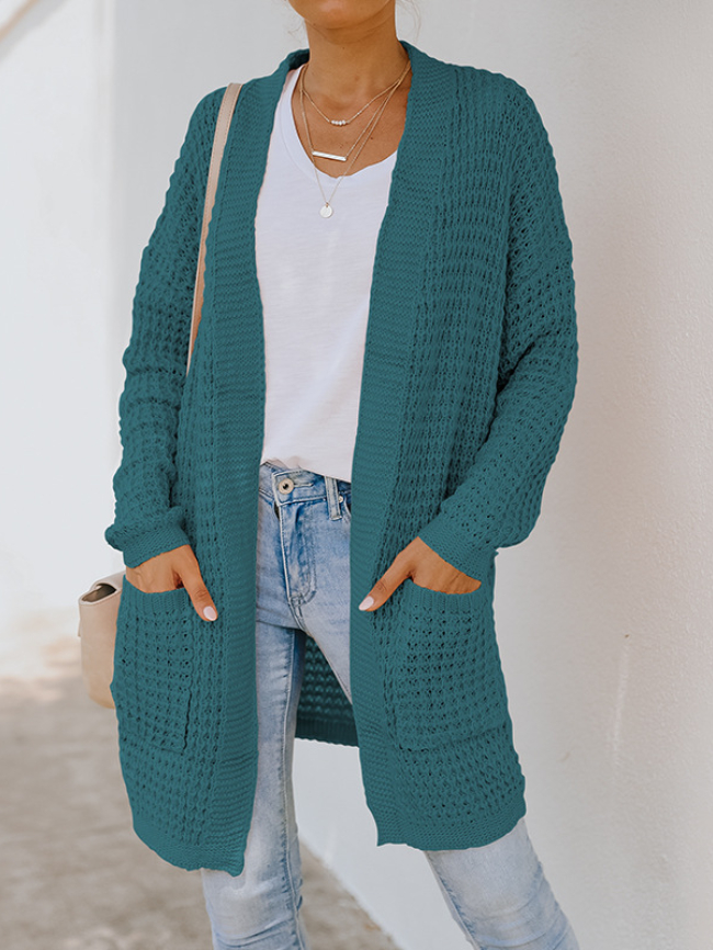 Mid-length Long-sleeved Knitted Sweater Coat