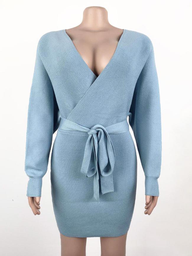 TIE WAIST sweater dress