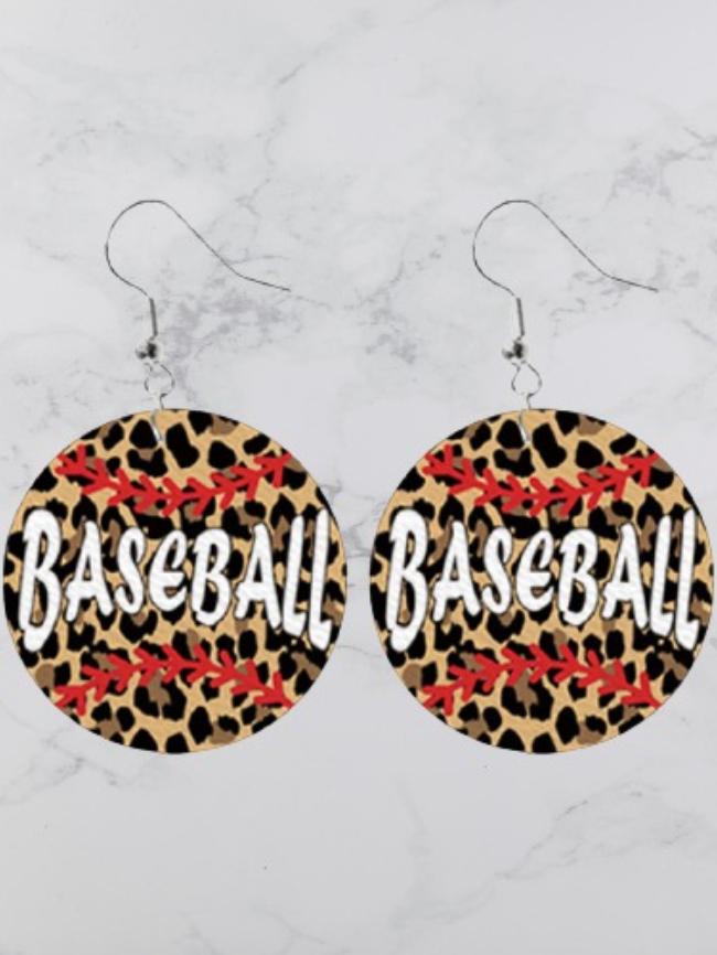 baseball earings