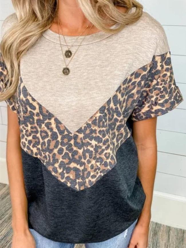 contrast leopard top