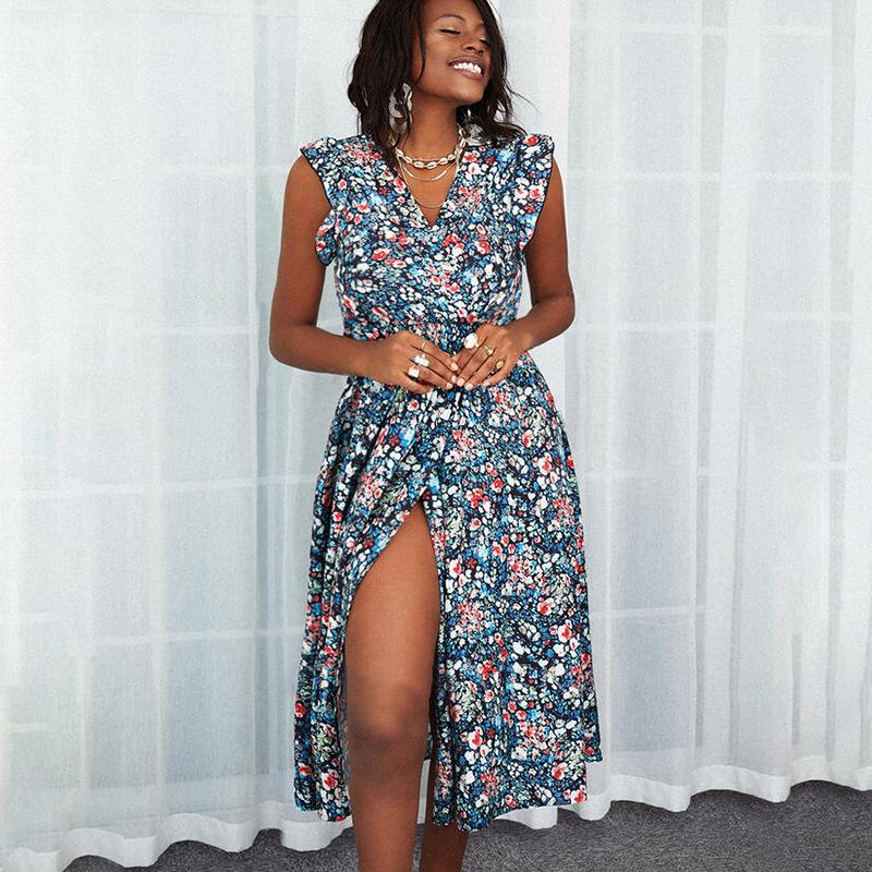 floral Split Thigh dress