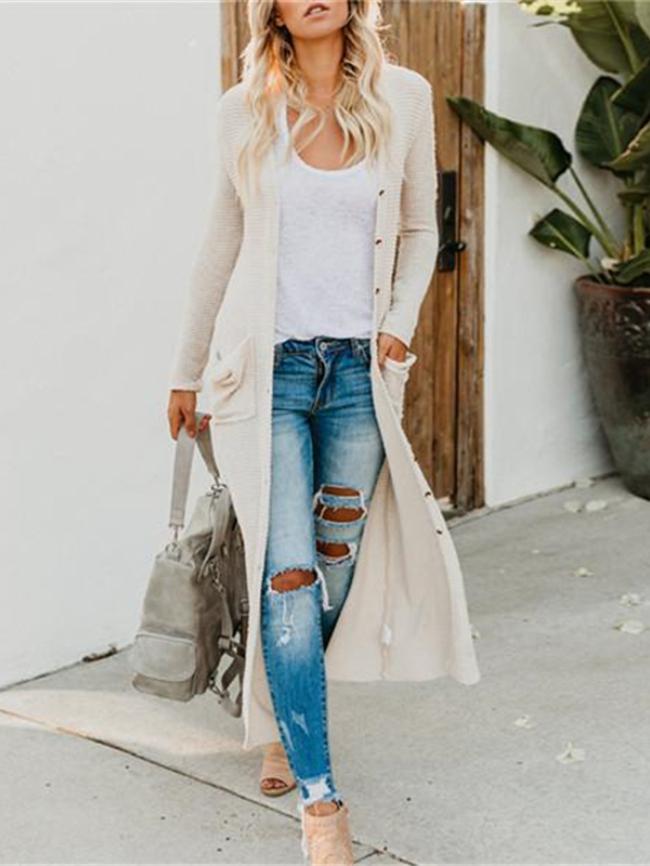 pocket long cardigan