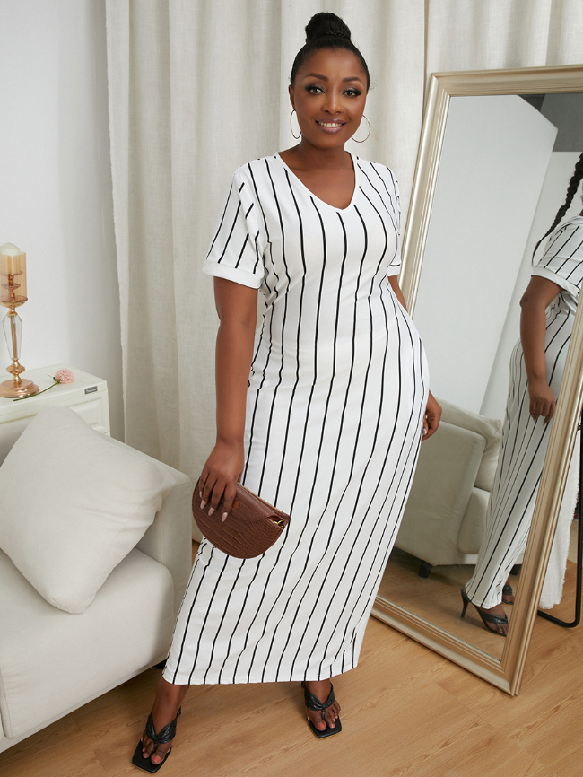 pocket stripe dress