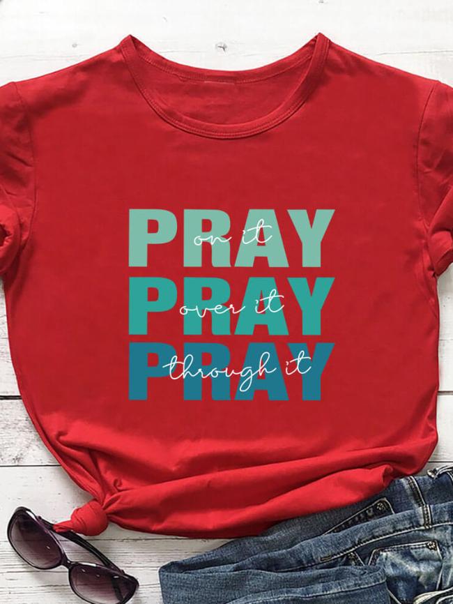pray on it tee