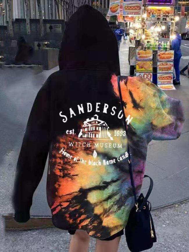 Tie-dye Print Hooded Jacket