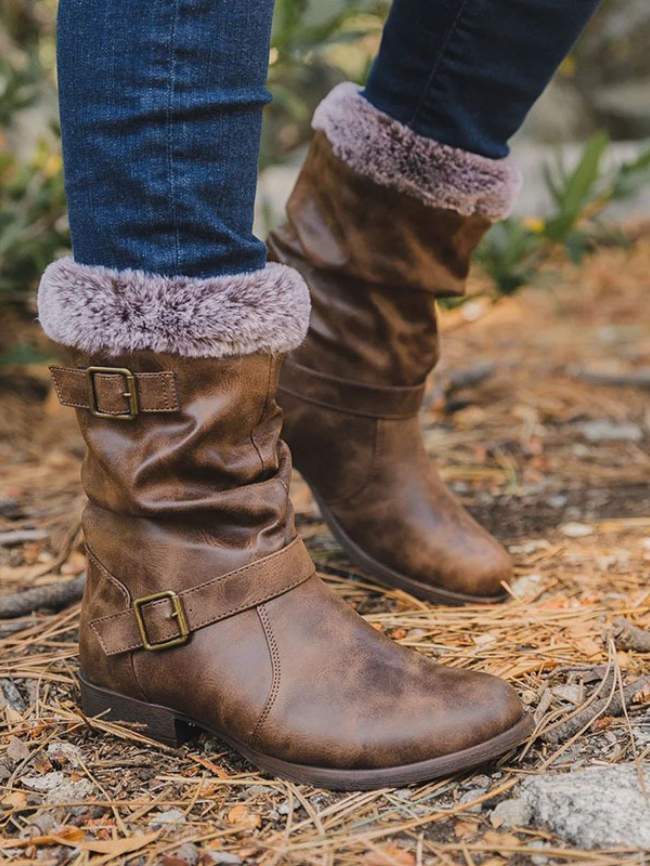 Buckle Decor Chunky Snow Boots