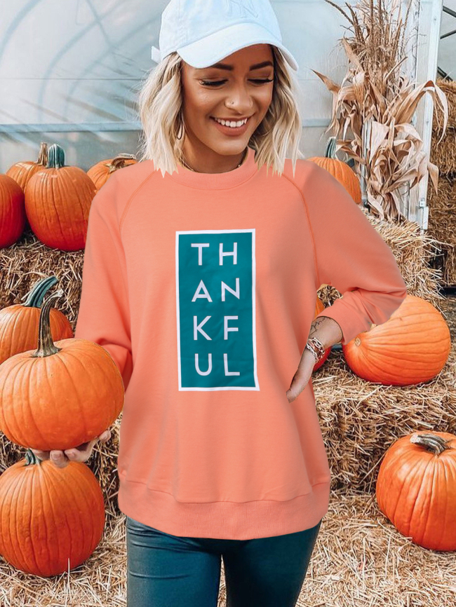 Orange Halloween Graphic Sweatshirt