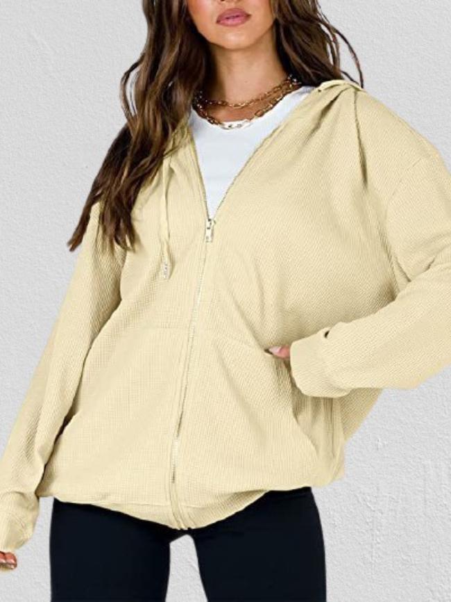 Zip Hooded Long Sleeve Jacket