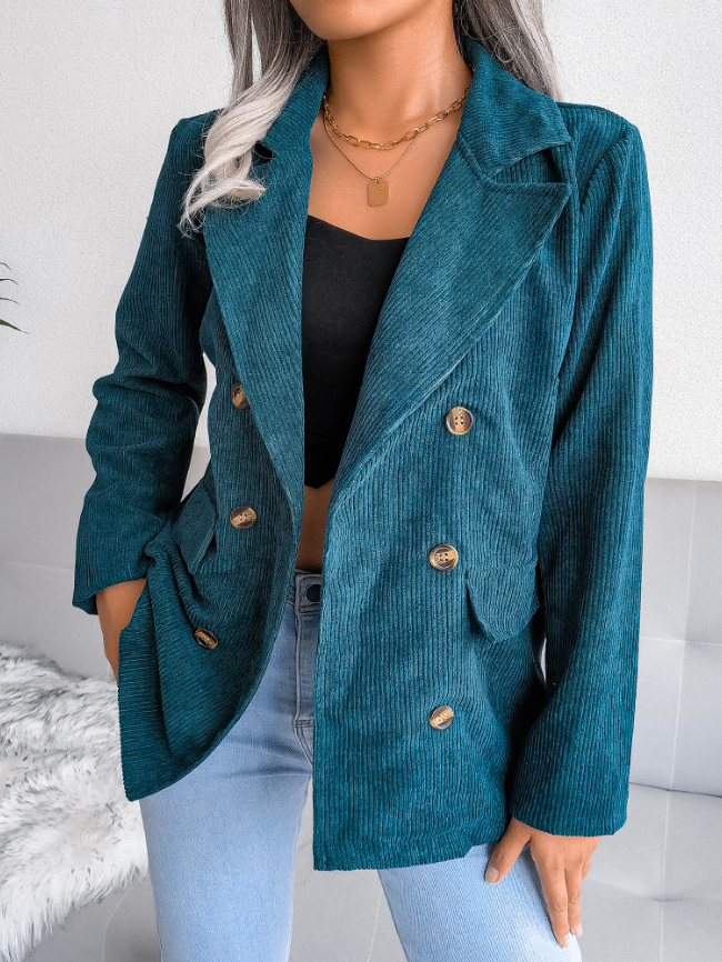Double-breasted small blazer jacket