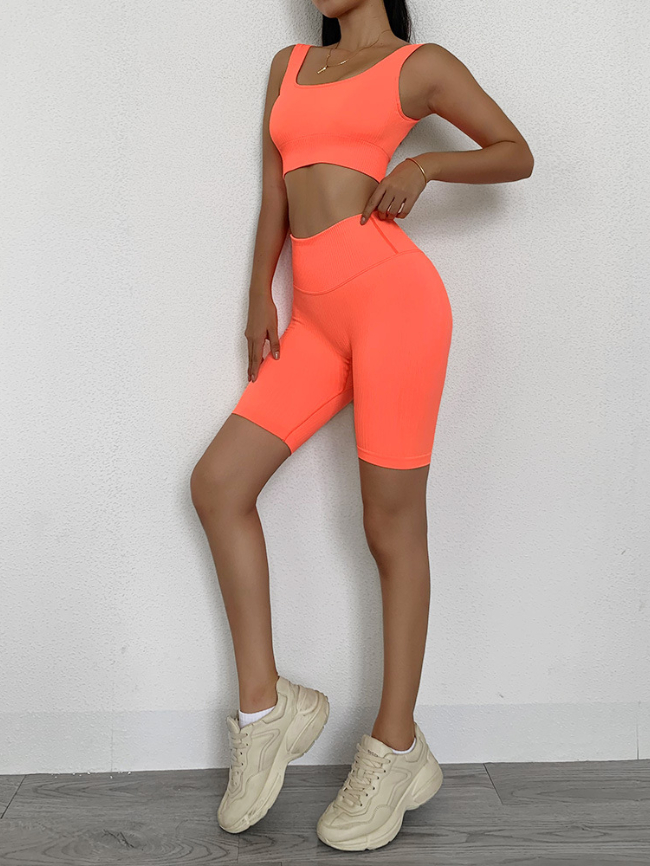 Solid Tank Top and Shorts 2 Piece Set