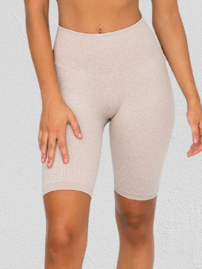 Solid Tight High Waist Sports Shorts
